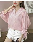 ieftine Bluză-Pentru femei Fără Bretele Bluză Dungi