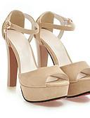 cheap Women's Blouses-Women's PU(Polyurethane) Summer Comfort Heels Stiletto Heel White / Black / Pink / Daily