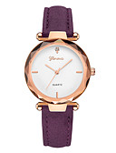 cheap Quartz Watches-Geneva Women's Wrist Watch Quartz New Design Casual Watch Cool Leather Band Analog Casual Fashion Brown / Purple / Clover - Green Gold / White White / Brown One Year Battery Life