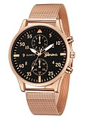 cheap Quartz Watches-Geneva Women's Wrist Watch Quartz New Design Casual Watch Cool Alloy Band Analog Casual Fashion Black / Rose Gold - Rose Gold Black / Silver Black / Rose Gold One Year Battery Life
