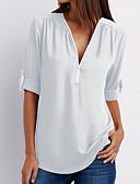 ieftine Bluză-Pentru femei În V Tricou Bumbac Mată