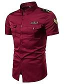 billige Herreskjorter-Skjorte Herre - Ensfarget, Broderi Bohem / Gatemote