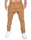 ieftine Pantaloni Bărbați si Pantaloni Scurți-Bărbați De Bază Pantaloni Chinos Pantaloni - Mată Bleumarin / Sport / Primăvară / Toamnă