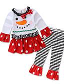 povoljno Kompletići za bebe-Dijete Djevojčice Prugasti uzorak / Print Dugih rukava Komplet odjeće