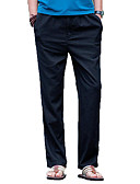 ieftine Pantaloni Bărbați si Pantaloni Scurți-Bărbați Talie Înaltă Bumbac / In Zvelt Pantaloni Chinos Pantaloni Mată