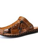 cheap Women's Dresses-Men's Nappa Leather Summer Comfort Sandals Black / Light Brown / Dark Brown