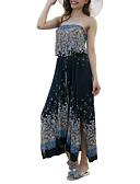baratos Blusas Femininas-Mulheres Básico Bainha Vestido Longo