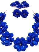 tanie Sukienki-Damskie Pojedynczy Strand Biżuteria Ustaw - Żywica Kwiat Moda Zawierać Naszyjnik z pasemkami Czerwony / Zielony / Różowy Na Codzienny