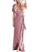 povoljno Ženske haljine-Žene Osnovni Korice Haljina Prugasti uzorak / Geometrijski oblici Maxi