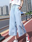 ieftine Pantaloni de Damă-Pentru femei De Bază Picior Larg Pantaloni - Mată Albastru Deschis