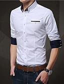 tanie Męskie koszule-Koszula Męskie Praca Solidne kolory / Długi rękaw