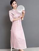 povoljno Ženske haljine-Žene Izlasci Slim Korice Haljina Ruska kragna Maxi