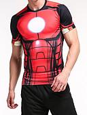 ieftine Maieu & Tricouri Bărbați-Bărbați Tricou Șic Stradă - Bloc Culoare / Animal Negru & Roșu