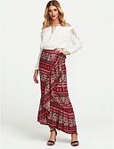 cheap Women's Skirts-Women's Holiday Boho Asymmetrical Trumpet / Mermaid Skirts - Paisley