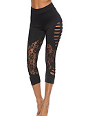 billige Tights-Dame Daglig Sporty Tights - Ensfarget Medium Midje