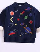 povoljno Džemperi i kardigani za dječake-Djeca Dijete koje je tek prohodalo Dječaci Osnovni Galaksija Dugih rukava Pamuk Džemper i kardigan Navy Plava