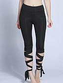 abordables Leggings para Mujer-Mujer Diario Básico Legging - Un Color Alta cintura