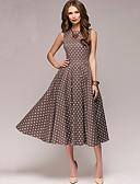 baratos Vestidos de Mulher-Mulheres balanço Vestido Poá Médio