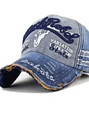 זול גברים-ג'קטים ומעילים-כובע בייסבול - דפוס / טלאים וינטאג' / עבודה בגדי ריקוד גברים