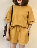 hesapli İki Parça Kadın Takımları-Kadın's Set Solid Pantolon