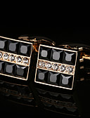 cheap Quartz Watches-Geometric Golden Cufflinks Copper / Alloy Basic / Fashion Men's Costume Jewelry For Party / Gift