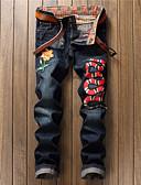 cheap Men's Pants & Shorts-men's slim jeans pants - solid colored