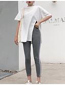 זול שמלות נשים-מכנס קפלים, אחיד - סט שרוול נפוח פעיל / בסיסי בגדי ריקוד נשים