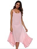 levne Dámské šaty-Dámské Větší velikosti Kalhoty - Jednobarevné Bílá / Lodičkový / Jdeme ven / Sexy