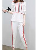 ieftine Costum Damă Două Bucăți-Pentru femei Set - Dungi, Pantaloni