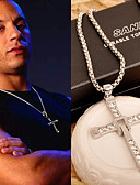 cheap Men's Tees & Tank Tops-Men's Classic Stylish Pendant Necklace - Rhinestone Cross Simple, Classic, Fashion Cute Gold, Silver 46 cm Necklace Jewelry 1pc For Club, Bar
