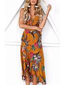 povoljno Ženske haljine-Žene Korice Haljina S naramenicama Asimetričan Visoki struk