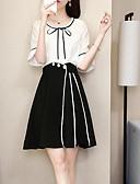 povoljno Ženski dvodijelni kostimi-Žene Osnovni Bluza - Jednobojni Suknja