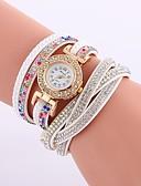 abordables Relojes Brazalete-Mujer Reloj Pulsera Chino La imitación de diamante PU Banda Casual / Moda Negro / Blanco / Azul