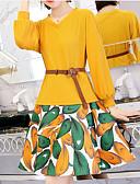 abordables Vestidos de Noche-Mujer Sofisticado Blusa - Un Color / Geométrico, Estampado Falda