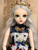 cheap Wedding Dresses-Doris Ball-joined Doll / BJD Blythe Doll Baby Girl 24 inch Full Body Silicone - Exquisite Artificial Implantation Green Eyes High-Temperature Resistant Fibre Wigs Kid's Girls' Toy Gift