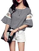cheap Women's Blouses-Women's Vintage Blouse - Solid Colored Black & White, Tassel