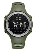 cheap Sport Watches-Men's Sport Watch Digital 50 m Water Resistant / Water Proof Bluetooth Calendar / date / day Rubber Band Digital Casual Fashion Black / Clover - Black Green One Year Battery Life / LCD / Moon Phase