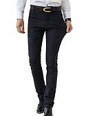 cheap Men's Pants & Shorts-Men's Simple / Basic Party Daily Work Slim Suits / Chinos Pants - Solid Colored Cotton / Linen Blue Black 34 36 38