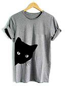 tanie T-shirt-T-shirt Damskie Podstawowy, Nadruk Bawełna Zwierzę / Lato