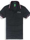 baratos Camisas Masculinas-Homens Polo Moda de Rua Sólido Colarinho de Camisa / Manga Curta