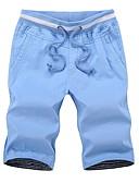 ieftine Pantaloni Bărbați si Pantaloni Scurți-Bărbați De Bază Pantaloni Scurți Pantaloni Mată / Geometric
