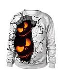 povoljno Majica s rukavima-Žene Ulični šik / pretjeran Hlače - Geometrijski oblici Print Sive boje L / Jesen / Zima / Praznik