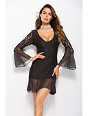 povoljno Dresses For Date-Žene Slim Hlače Visoki struk Obala / Mini / Duboki V / Praznik