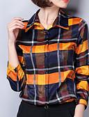 cheap Women's T-shirts-Women's Basic Shirt - Plaid Print
