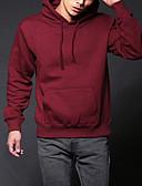 ieftine Jachete & Paltoane Bărbați-Bărbați Șic Stradă Pantaloni - Mată Bleumarin XL / Capișon / Manșon Lung