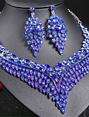 cheap Leggings-Women's Thick Chain Hollow Jewelry Set - Austria Crystal Love, Blessed Luxury, European, Elegant Include Drop Earrings Choker Necklace Statement Necklace Rainbow / Red / Blue For Wedding Party