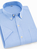 cheap Men's Ties & Bow Ties-Men's Work Business Shirt - Solid Colored / Short Sleeve