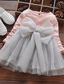 billige Babytopper-Baby Jente Aktiv / Gatemote Lapper Lapper Langermet Rayon / Polyester Kjole Rosa