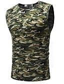 baratos Camisetas & Regatas Masculinas-Homens Malha Íntima Militar camuflagem