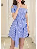 ieftine Print Dresses-Pentru femei Zvelt Pantaloni Talie Înaltă Albastru piscină / Pe Umăr / Ieșire
